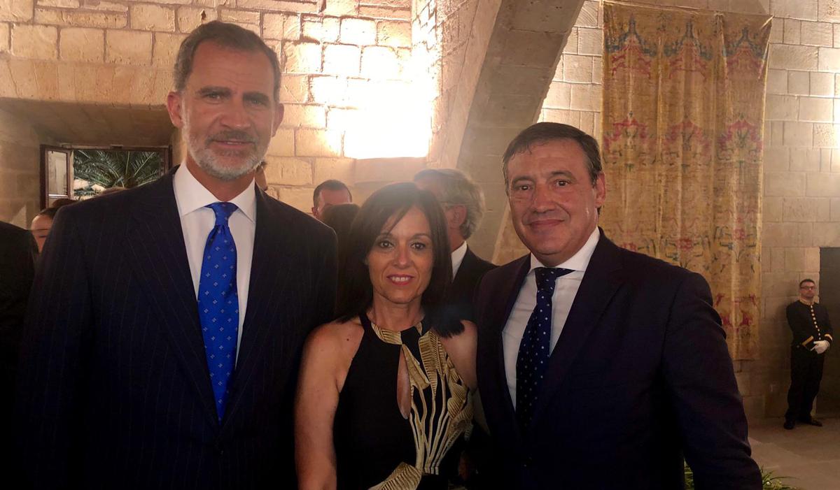recepción de los reyes en Palma