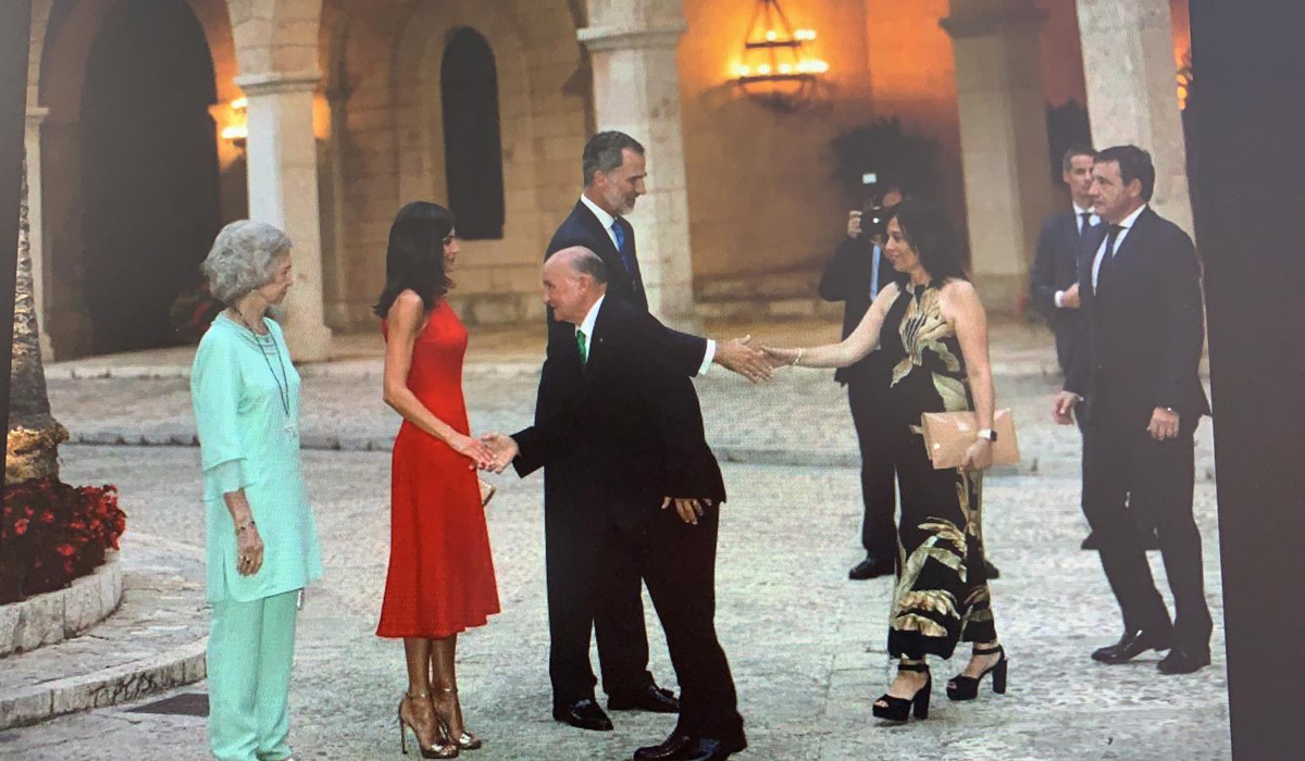 Recepción de los reyes en Mallorca